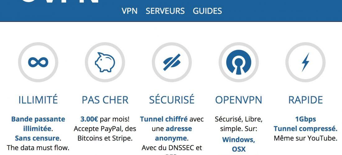 Le meilleur service de VPN français