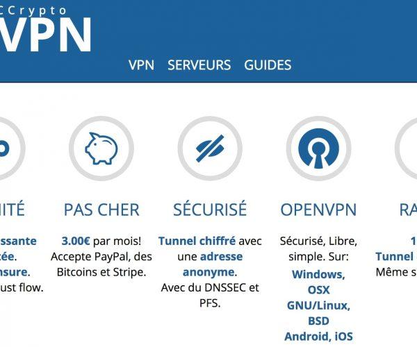 Le meilleur service de VPN français : CCrypto